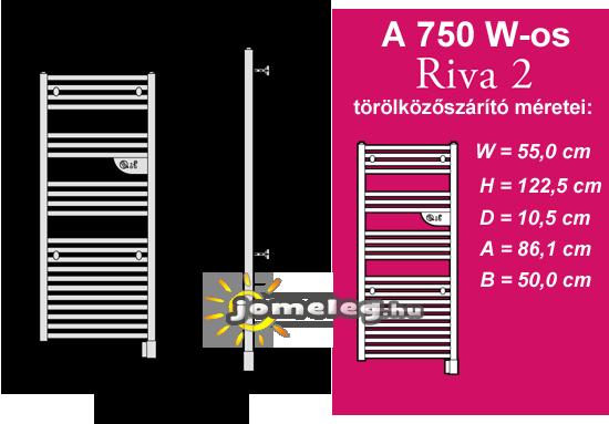 Elektromos törölközőszárító és radiátor egyben - Riva 2 750 W